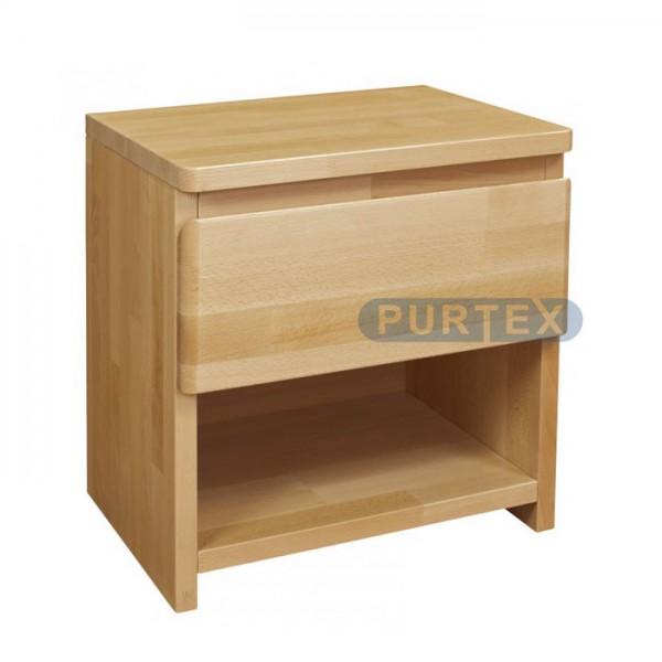 Noční stolek LUX se zásuvkou, Purtex