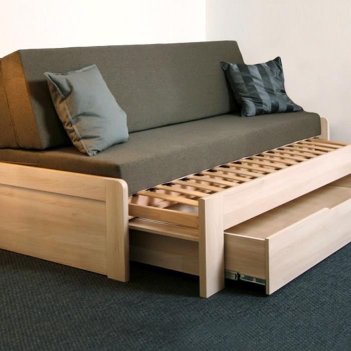 Rozkládací postel TINA TANDEM PLUS s lamelovým rozkládacím roštem, BMB
