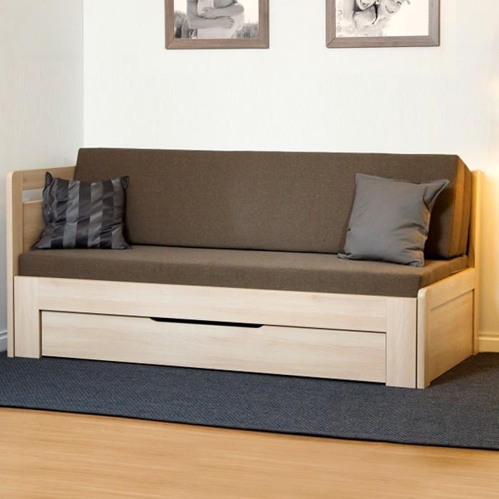 Rozkládací postel ESTER TANDEM PLUS, lamino akát se zaoblenými rohy, BMB