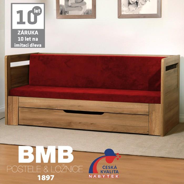 Rozkládací postel SÁRA TANDEM PLUS lamino, BMB