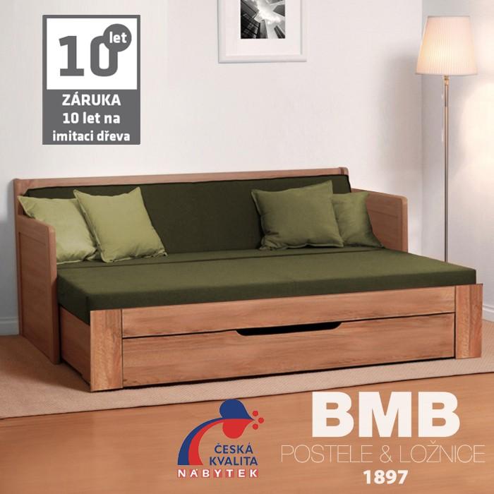 Rozkládací postel SOFA TANDEM PLUS lamino, BMB