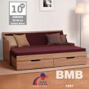 Rozkládací postel SOFA TANDEM KLASIK rohová lamino, BMB