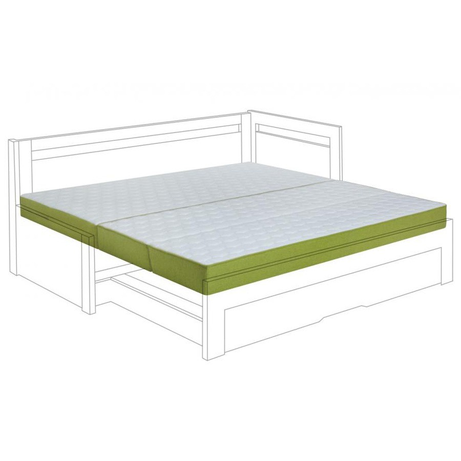 Matrace NINA k rozkládací posteli - ukázka v kombinovaném potahu New Jersey - Bombay