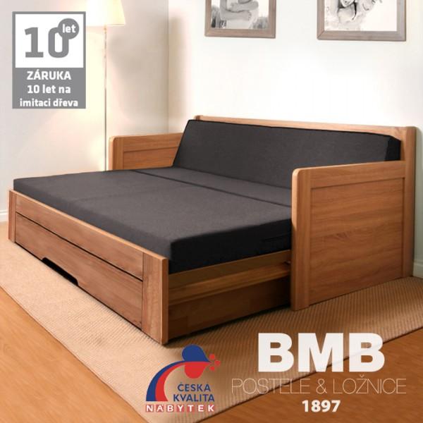 Rozkládací postel SOFA TANDEM ORTHO lamino, BMB