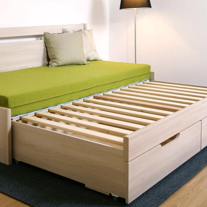 Rozkládací postel LARA TANDEM KLASIK - ukázka rozkládacího laťového roštu, BMB