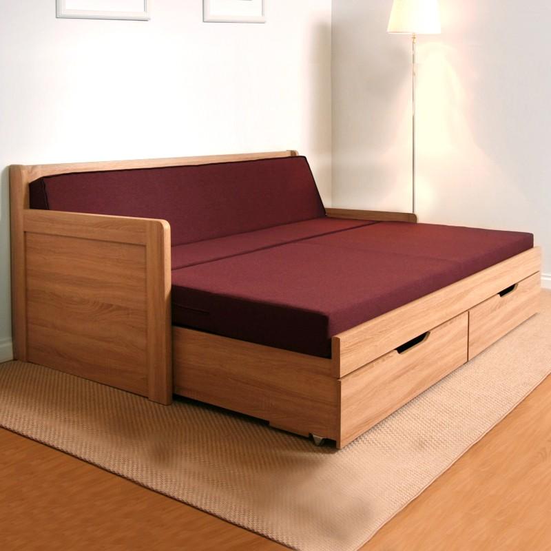 Rozkládací postel MARCY TANDEM KLASIK rohová masiv, BMB