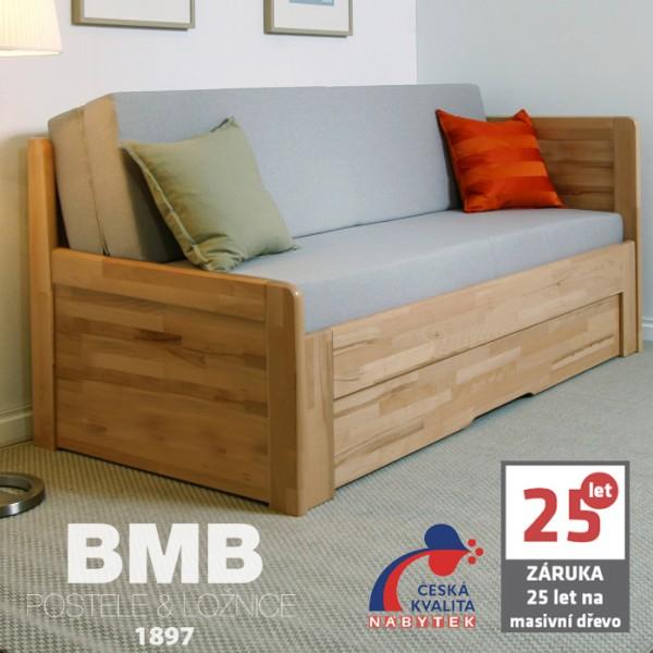Rozkládací postel MARCY TANDEM ORTHO rohová, masiv, BMB