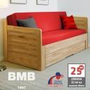 Rozkládací postel MARCY TANDEM ORTHO masiv, BMB