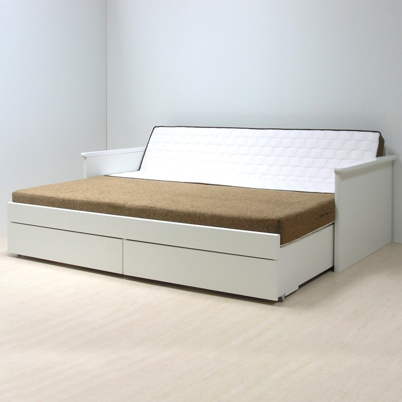 Rozkládací postel JORA TANDEM KLASIK lamino bílá, BMB