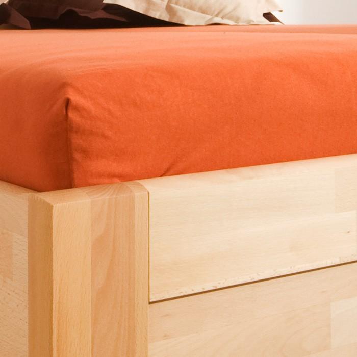 Postel KARLO FAMILY výklop masiv buk - povrchová úprava vosk, odstín přírodní, rovné rohy, BMB