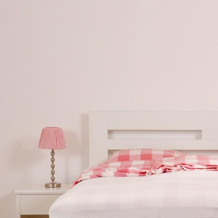 Zvýšená postel ELLA HARMONY lamino - dekor bílá, rovné rohy, BMB