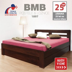 Zvýšená postel ELLA HARMONY výklop masiv buk, BMB
