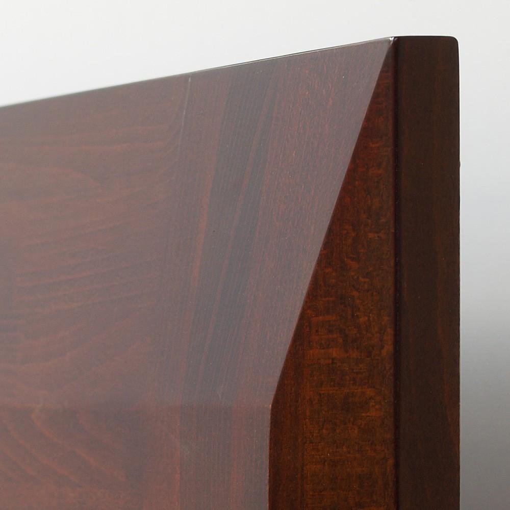 Zvýšená postel ELLA MOSAIC masiv buk - detail zadního vysokého čela u hlavy, BMB