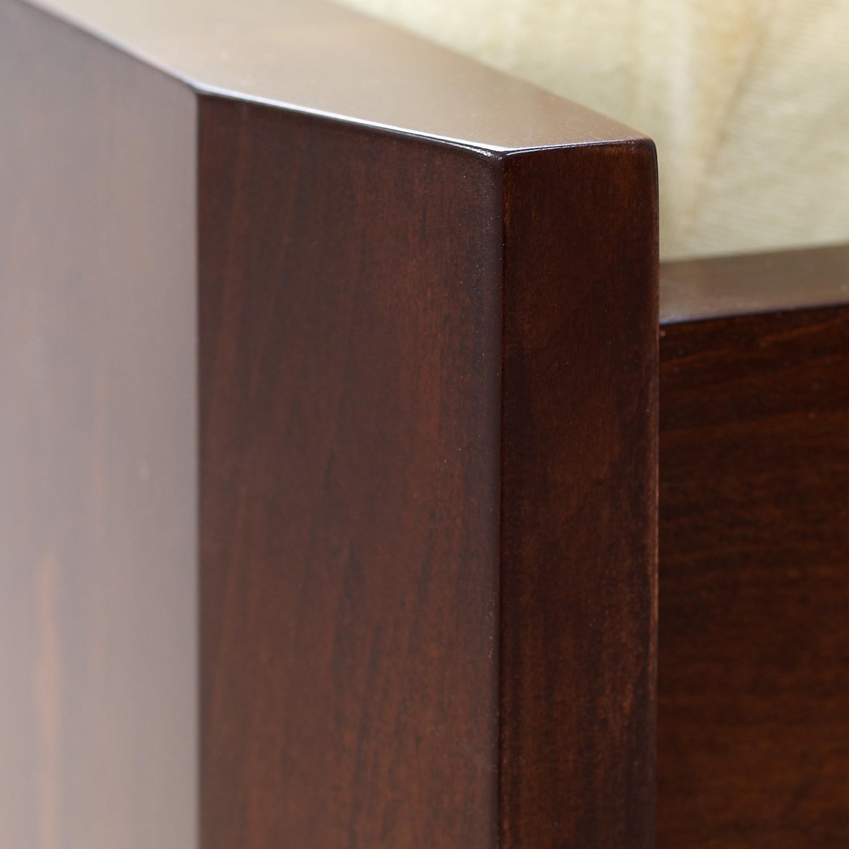 Zvýšená postel ELLA MOSAIC masiv buk - detail předního nízkého čela u nohou, BMB