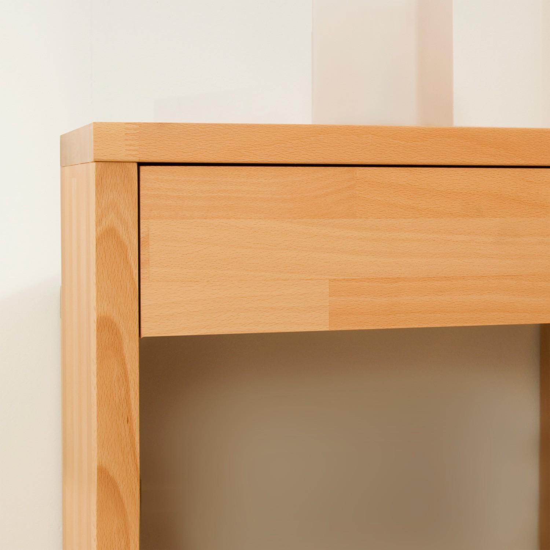 Noční stolek KLASIK masiv buk průběžný VOSK přírodní, BMB