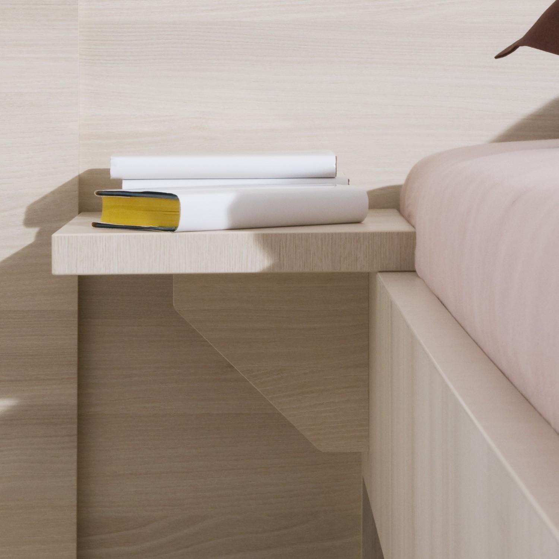 Noční stolek ZÁVĚSNÝ lamino akát, BMB