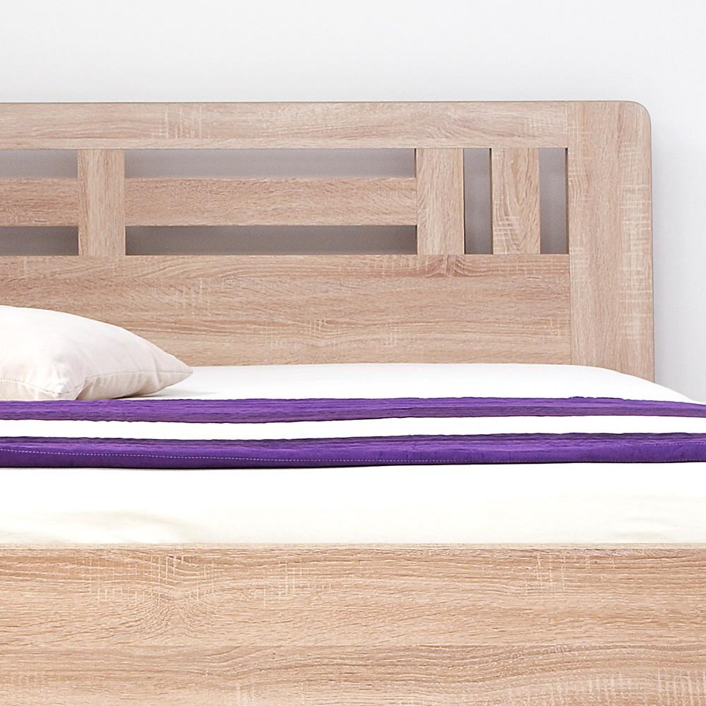 Zvýšená postel ELLA MOON lamino - oblé rohy, BMB