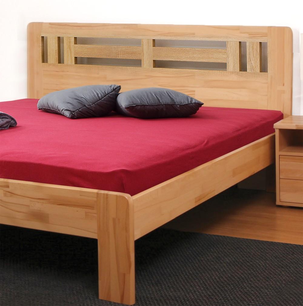 Zvýšená postel ELLA MOON - jádrový masiv buk cink přírodní lak, BMB