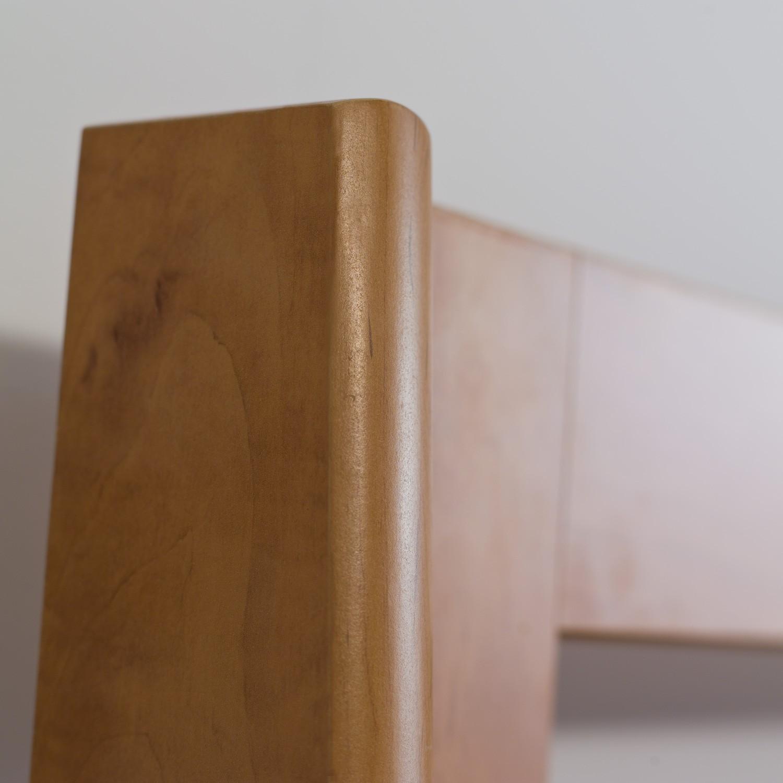 Jednolůžko TINA lamino - dekor hrušeň planá, detail zadního čela, BMB