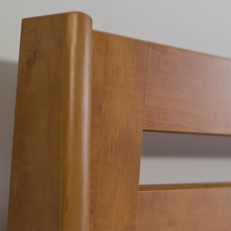 Jednolůžko TINA VÝKLOP lamino - dekor hrušeň planá, detail zadního čela, BMB