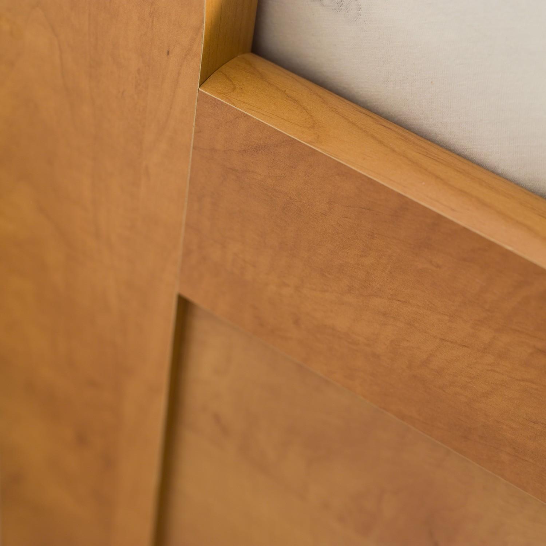 Jednolůžko TINA VÝKLOP lamino - dekor hrušeň planá, detail bočního nízkého čela, BMB