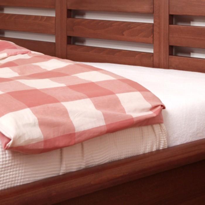 Zvýšená postel VIOLA masiv buk - odstín č. 93 káva, BMB