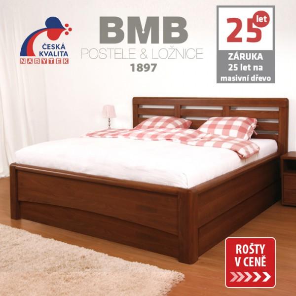 Zvýšená postel VIOLA VÝKLOP masiv buk, BMB