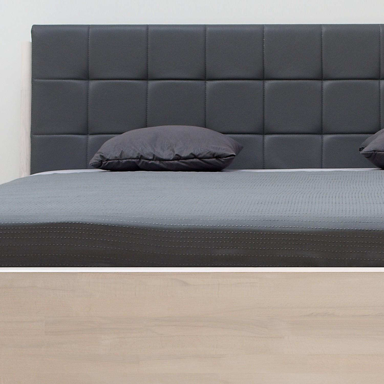 Zvýšená postel DENERYS PARADISE masiv buk - odstín bělený s koženkou Texas 36, BMB