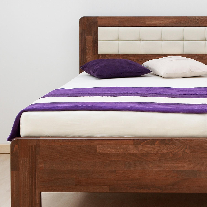 Zvýšená postel DENERYS STAR masiv buk - s oblými rohy, BMB