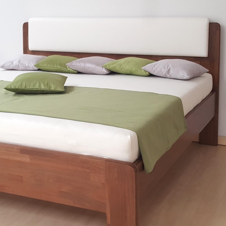 Zvýšená postel DENERYS LIVE masiv buk - s oblými rohy, BMB