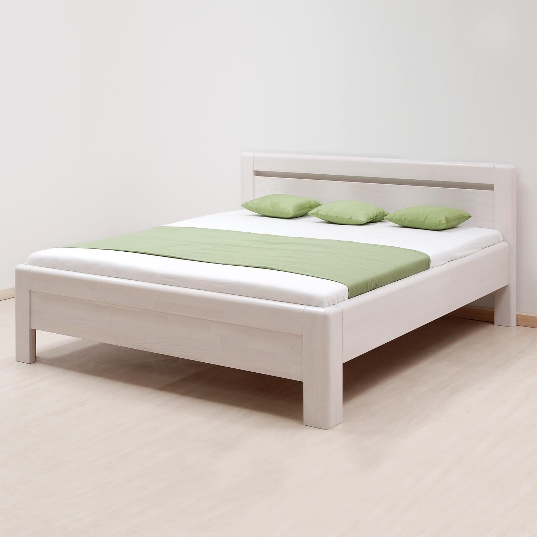 Zvýšená postel ADRIANA masiv buk - odstín bělená, BMB