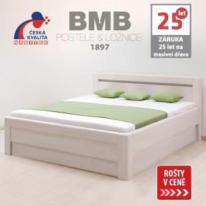 Zvýšená postel ADRIANA VÝKLOP masiv buk, BMB