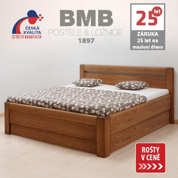 Zvýšená postel ADRIANA VÝKLOP masiv dub, BMB