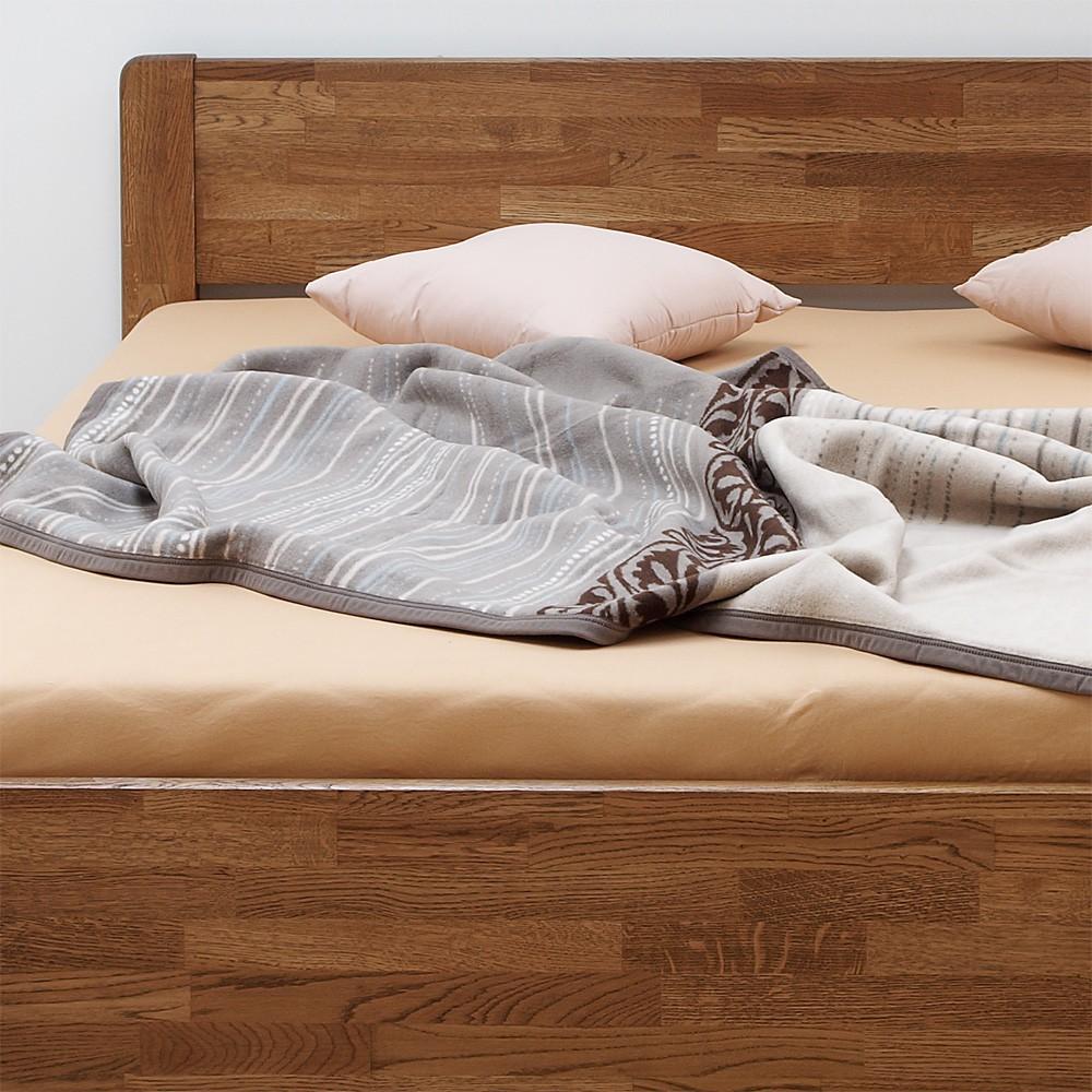 Zvýšená postel SOFI masiv dub - provedení dub cink v moření wenge, BMB
