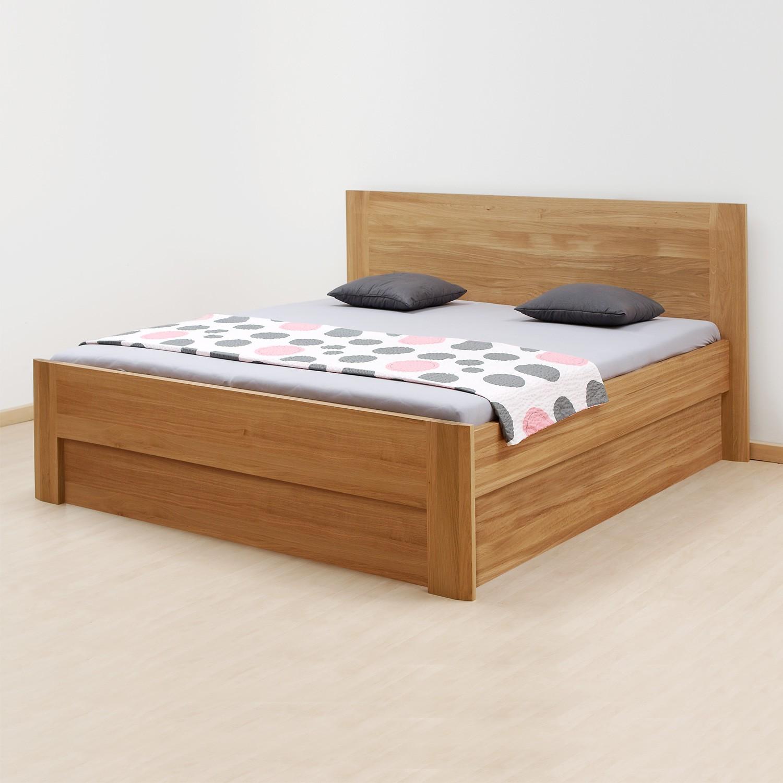 Zvýšená postel ELLA FAMILY VÝKLOP masiv dub - provedení dub průběžný natur, BMB