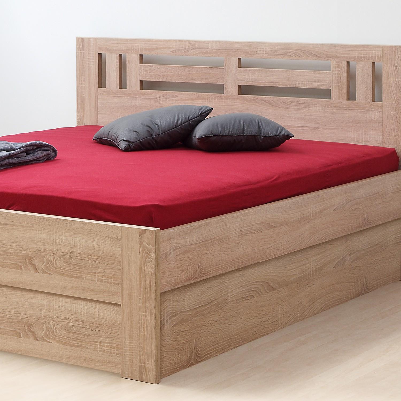 Zvýšená postel ELLA MOON VÝKLOP lamino - dekor dub bardolíno s rovnými rohy, BMB