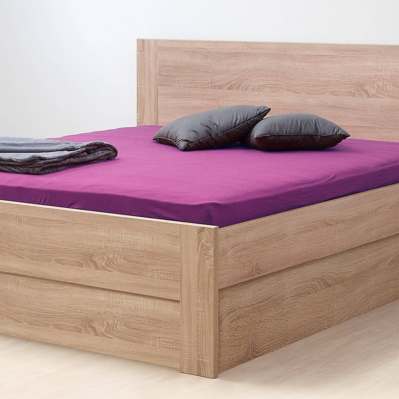 Zvýšená postel ELLA FAMILY VÝKLOP lamino  - dekor dub bardolíno s rovnými rohy, BMB