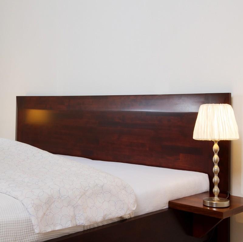 Zvýšená postel ELLA FAMILY VÝKLOP masiv buk - odstín tmavý ořech, BMB