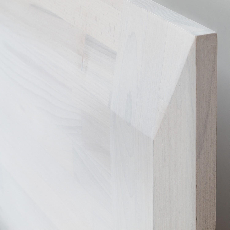 Zvýšená postel ELLA FAMILY VÝKLOP masiv buk - detail zadního čela, odstín bělený, BMB