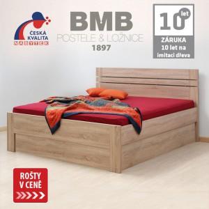 Zvýšená postel ELLA LUX VÝKLOP lamino, BMB