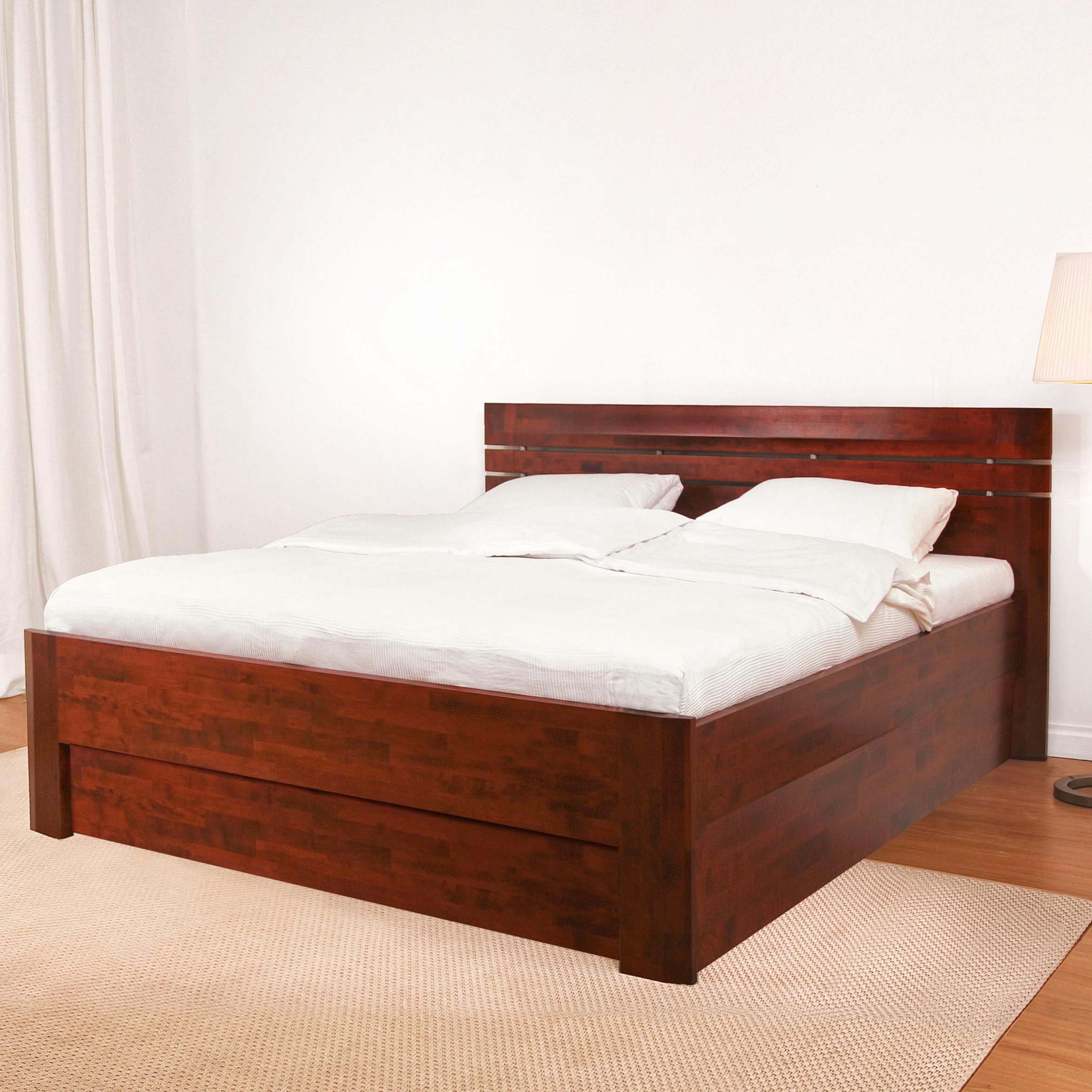 Zvýšená postel ELLA LUX VÝKLOP masiv buk -  BMB