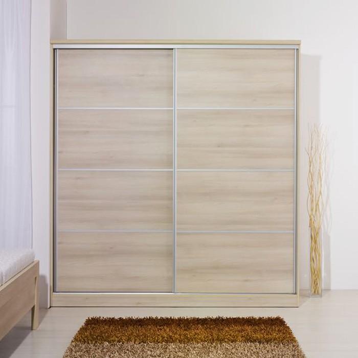 Šatník posuvné dveře 200 cm lamino, BMB