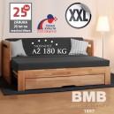 Rozkládací postel TARJA TANDEM ORTHO XXL masiv, BMB