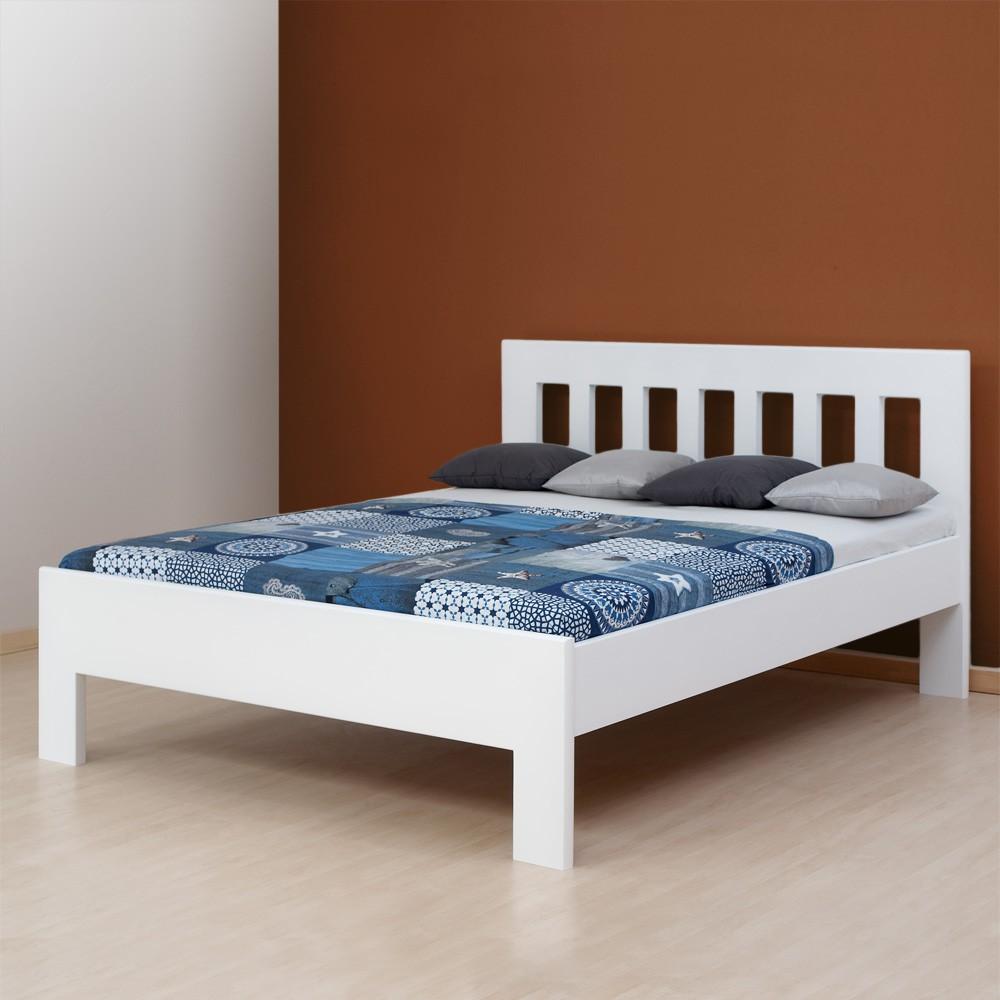 Zvýšená postel ELLA DREAM masiv buk, barva bílá, BMB