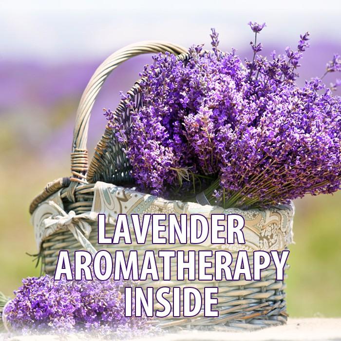 Aromaterapeutická pěna s esenciálním oleje z levandule