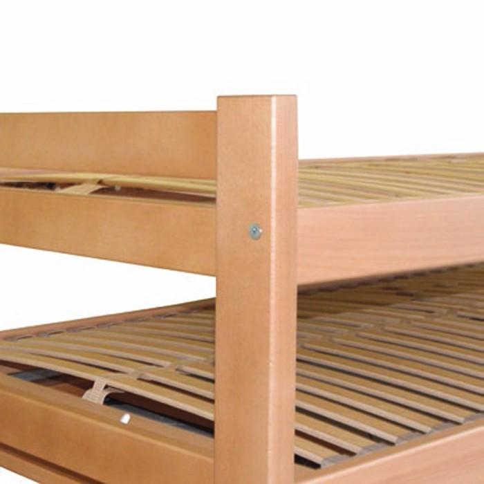 Rozkládací postel DUELO s matracemi LUCIDA, Ahorn
