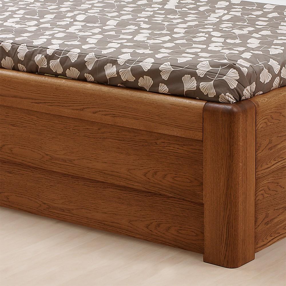 Zvýšená postel ADRIANA LUX VÝKLOP masiv dub, BMB
