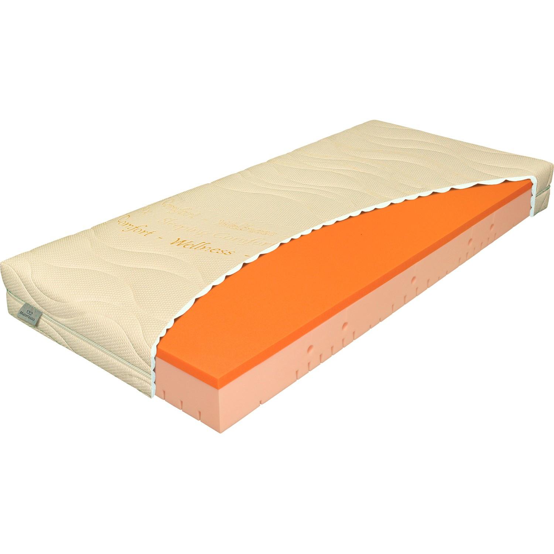 Matrace Viscostar 20 - set s opěrkou v bílém matracovém potahu, Materasso