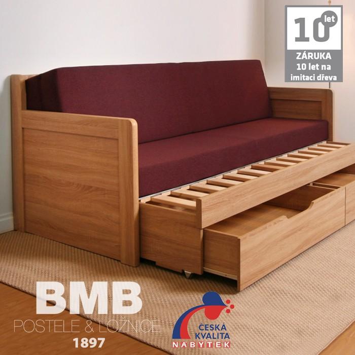 AKCE rozkládací postel SOFA TANDEM KLASIK lamino s matracemi BONNIE 18