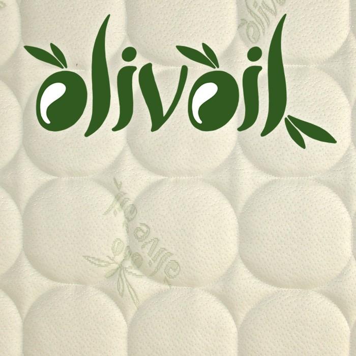 Oboustranné matrace Biogreen Maxi 22 - detail luxusní potahové látky Oliva